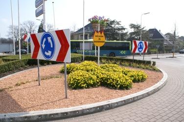 Er rijden iedere dag zo'n 30.000 auto's langs deze rotonde in Sassenheim.